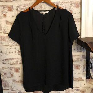 Trina Turk 100% polyester black blouse size L